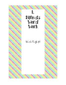 L-blends Word Work