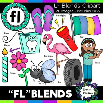 L blends clipart - Fl words - 20 images! Personal and Commercial use