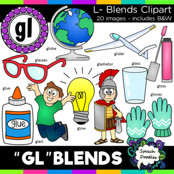L blends clipart - Gl words - 20 images! Personal and Comm