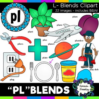 L blends clipart - Pl words- 22 images! Personal and Comme