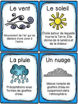 L'eau - Le cycle de l'eau - Cartes de vocabulaire - French Water Cycle