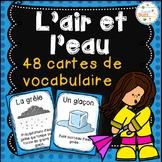 L'air et l'eau - Cartes de vocabulaire - French Air and Water Vocabulary Cards