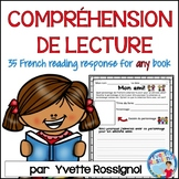 Compréhension de lecture  | French Reading Response and Writing Activities