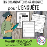 L'enquête: Graphic organizers for inquiry in French