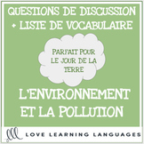 Advanced French conversation questions - L'environnement