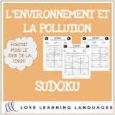 L'environnement - French sudoku games - Earth Day - Le Jou