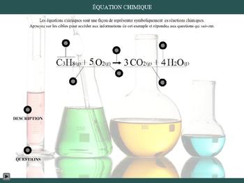 L'équation chimique