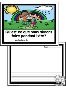 L'été: A French Emergent Reader with Summer Activities