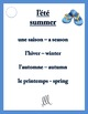 L'été - French Taboo Speaking Game - Summer Theme