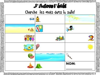L'été - Summer Fin d'année (End of Year) Activity - Core French/French Immersion