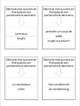 Advanced French conversation questions - L'été - Summer