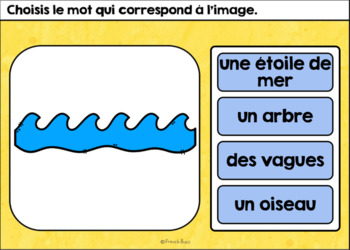 L'été - Vocabulaire #1 - French Summer - BOOM cards