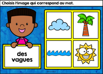 L'été - Vocabulaire #2 - French Summer - BOOM cards