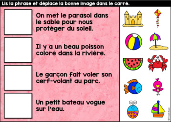 L'été - Vocabulaire Ensemble - French Summer - BOOM cards