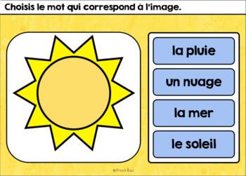L'été - Vocabulaire Ensemble - French Summer - BOOM cards