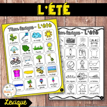 L'été - lexique - French Summer