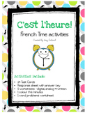 L'heure - French Time activities