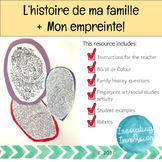 Social Studies + Art: My Family History in French (Ma famille + Mon empreinte)