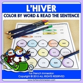French Winter Activity Color by Word   French hiver français   pour l'hiver