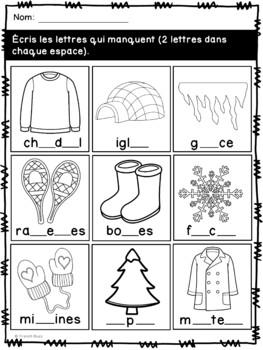 L'hiver - French Winter - Cahier d'activités de l'élève