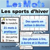 L'hiver et le hockey: Je pratique mon vocabulaire {French Vocabulary Practice}