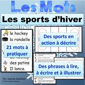 L'hiver et le hockey: Je pratique mon vocabulaire {French