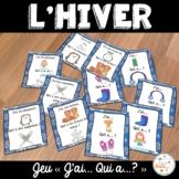 "Hiver - jeu ""j'ai... qui a...?"" - French Winter"