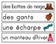 Hiver - les vêtements (French Winter clothing vocabulary and activities)
