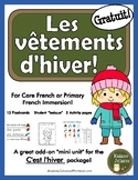 Hiver - les vêtements (French Winter clothing vocabulary a