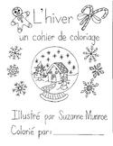 L'hiver: un cahier de coloriage