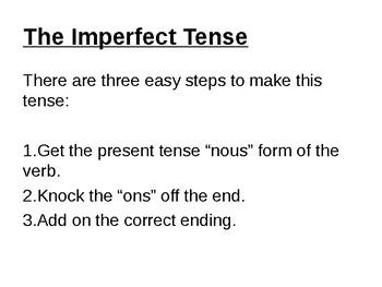 L'imparfait / The Imperfect Tense