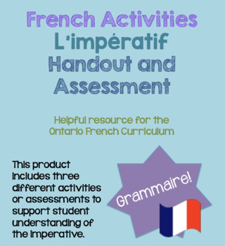 L'impératif (Imperative) French Activities Handouts Assessments Core French