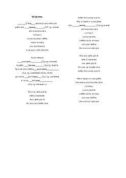 L'imperfetto con una canzone: Una gatta di Gino Paoli (Italian Imperfect tense)