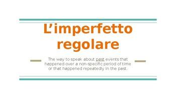 L'imperfetto regolare - The Regular Imperfect tense in Italian