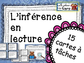 L'inférence en lecture - Cartes à tâches