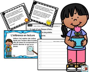 L'inférence en lecture - Cartes à tâches - PRINTEMPS