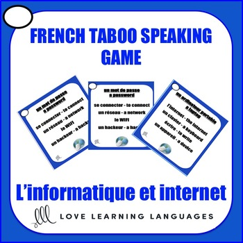 L'informatique et internet - French Taboo Speaking Game - Computers and Internet