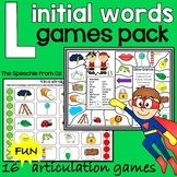 Articulation games for speech therapy l initial words