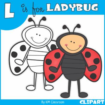 L is for Ladybug Clip Art