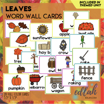 L is for Leaves Themed Lesson Plans (one week)