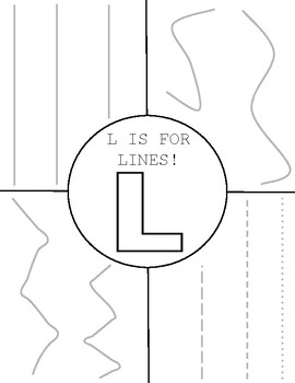 L is for Lines (Tracing & Coloring)