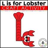 Letter L Craft {Lobster}