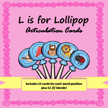 L is for Lollipop Articulation Cards for Speech Games