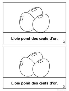 L'oie qui pond des œufs d'or Reader ~ Simplified French Goose Golden Egg Fable