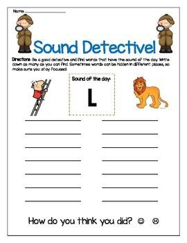 L sound - Write the Room Center Worksheet