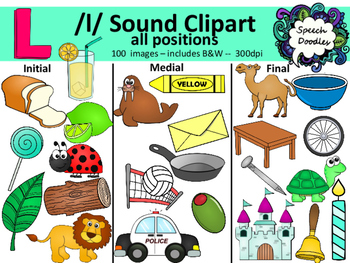 L sound clipart - 100 images! Personal and Commercial use. Articulation clipart