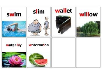L vs W minimal pairs GO Fish