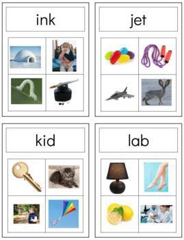 L023: CVC word to image clip cards (set 2)