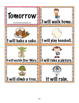 L.1.1 First Grade English Common Core Worksheets, Activity, and Poster