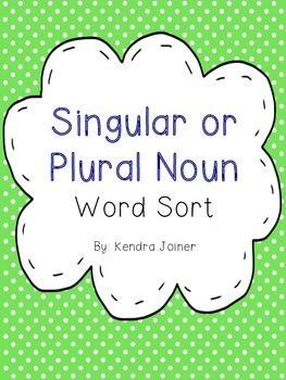 Singular or Plural Noun Word Sort